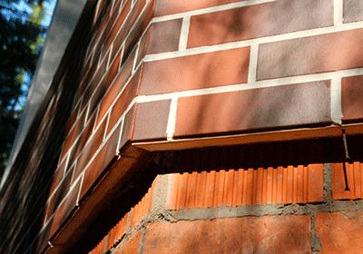 Обшивка фасада клинкерными термопанелями