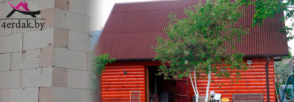 Обшивка фасада блок-хаусом