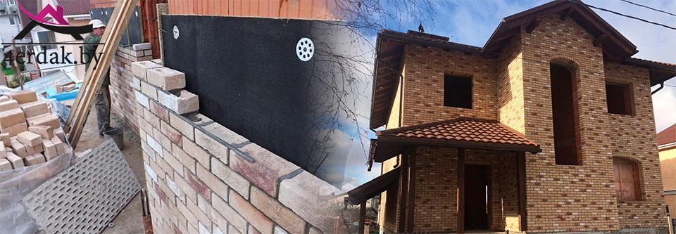 Облицовка фасада клинкером